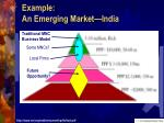 example an emerging market india