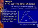 example ict for improving market efficiencies