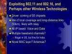 exploiting 802 11 and 802 16 and perhaps other wireless technologies