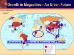 growth in megacities an urban future