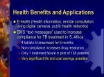 health benefits and applications