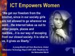 ict empowers women