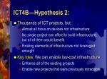 ict4b hypothesis 2