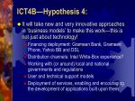 ict4b hypothesis 4
