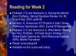 reading for week 2