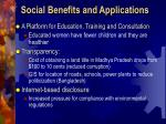 social benefits and applications