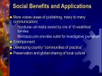 social benefits and applications1