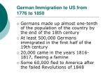 german immigration to us from 1776 to 1850