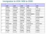 immigration to usa 1850 to 2000