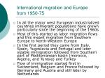 international migration and europe from 1950 75