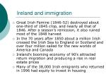 ireland and immigration