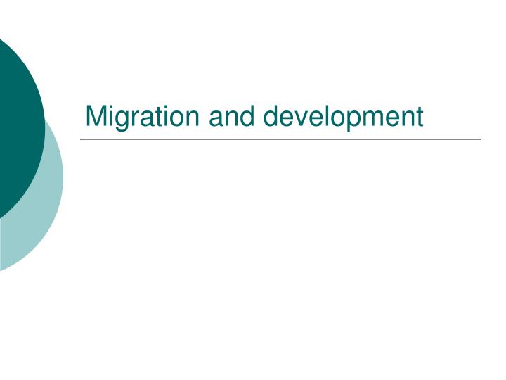 migration and development n.