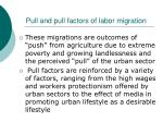 pull and pull factors of labor migration