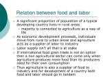 relation between food and labor