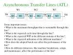 asynchronous transfer lines atl