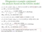 diagnostics example continued an analysis based on the g g m model
