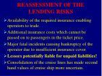 reassessment of the lending risks