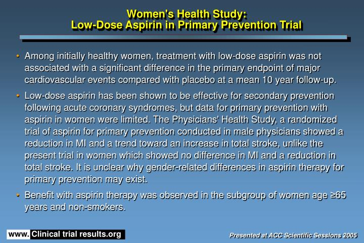 Women's Health Study: