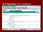 a i services atla database