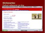 dictionaries oxford reference on line