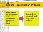 sexual reproduction process