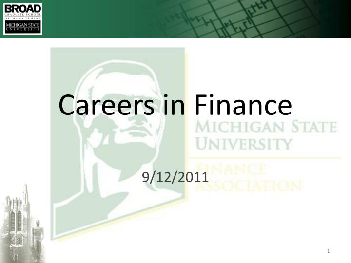 careers in finance n.