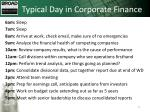 typical day in corporate finance