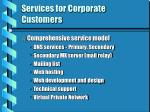 services for corporate customers