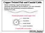 copper twisted pair and coaxial cable