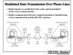 modulated data transmission over phone lines