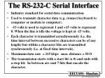the rs 232 c serial interface
