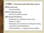 nmbs neuromuscular blocking agents
