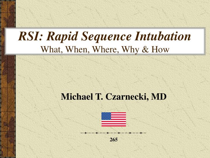 rsi rapid sequence intubation what when where why how n.