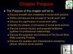 chapter purpose