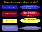 characteristics associated with good therapists
