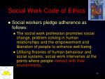 social work code of ethics