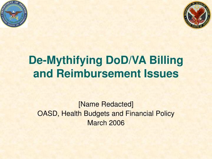 de mythifying dod va billing and reimbursement issues n.