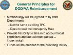 general principles for dod va reimbursement