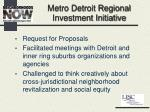 metro detroit regional investment initiative