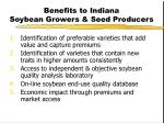 benefits to indiana soybean growers seed producers