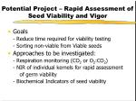 potential project rapid assessment of seed viability and vigor