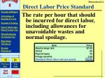 direct labor price standard