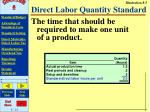 direct labor quantity standard