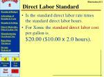 direct labor standard