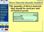 direct materials quantity standard