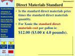 direct materials standard