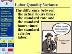 labor quantity variance
