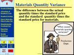 materials quantity variance