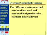 overhead controllable variance