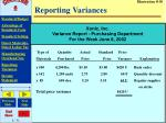 reporting variances